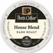 PEET'S COFFEE HOUSE BLEND COFFEE K-CUP PACK (22 PER BOX)