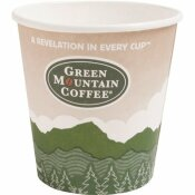 GREEN MOUNTAIN COFFEE ROASTERS ECO-FRIENDLY 12 OZ. MULTI-COLORED PAPER HOT DRINK CUPS (1,000 PER CASE)