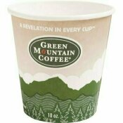 GREEN MOUNTAIN COFFEE ROASTERS ECO-FRIENDLY 10 OZ. MULTI-COLORED PAPER HOT DRINK CUPS (1,000 PER CASE)