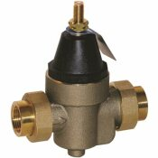 WATTS PRESSURE REDUCING VALVE WITH BYPASS FEATURE, FIP, 3/4 IN., 50 PSI, LEAD FREE - WATTS PART #: 3/4 LFN45BM1-DU