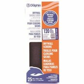 LINZER 4-3/16 IN. X 11 IN. 120 GRIT SILICON CARBIDE DRYWALL SCREENS (25 PACK)