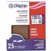 LINZER 9 IN. X 11 IN. NATURAL GARNET SANDPAPER 120-GRIT (25-PACK)