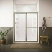 STERLING DELUXE 59-3/8 IN. X 70 IN. FRAMED SLIDING SHOWER DOOR IN SILVER WITH HANDLE