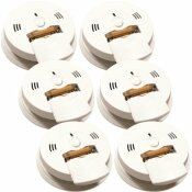 KIDDE CODE ONE BATTERY OPERATED COMBINATION IONIZATION SMOKE AND CARBON MONOXIDE DETECTOR WITH VOICE WARNING (6-PACK) - KIDDE PART #: 21006974