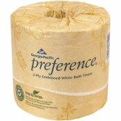 PREFERENCE 2-PLY EMBOSSED BATHROOM TISSUE, TOILET PAPER, WHITE (80-ROLLS PER CASE)