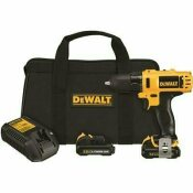 DEWALT 12-VOLT MAX LITHIUM-ION CORDLESS 3/8 IN. DRILL/DRIVER KIT WITH (2) 12-VOLT BATTERIES 1.5AH, CHARGER AND TOOL BAG - DEWALT PART #: DCD710S2