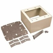 LEGRAND WIREMOLD 2-GANG DUAL-CHANNEL STEEL EXTRA DEEP DEVICE BOX FITTING, IVORY