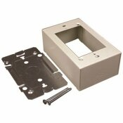 LEGRAND WIREMOLD 1-GANG DUAL-CHANNEL STEEL DEVICE BOX FITTING, IVORY