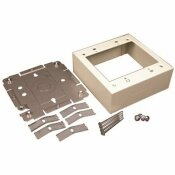 LEGRAND WIREMOLD 2-GANG DUAL-CHANNEL STEEL DEVICE BOX FITTING, IVORY