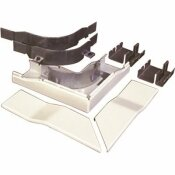 LEGRAND WIREMOLD 5-1/2 IN. DUAL-CHANNEL STEEL RADIUSED DIVIDED FLAT ELBOW FITTING, IVORY