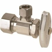 BRASSCRAFT ANGLE STOP STUFFING BOX 1/2 IN. NOM COMP X 3/8 IN. O.D. COMP CP LEAD FREE