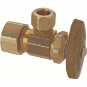 BRASSCRAFT 1/2 IN. NOM COMP INLET X 3/8 IN. O.D. COMP OUTLET MULTI-TURN ANGLE STOP