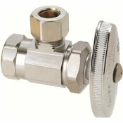 BRASSCRAFT 3/8 IN. FIP INLET X 3/8 IN. O.D. COMPRESSION OUTLET MULTI-TURN ANGLE VALVE IN CHROME