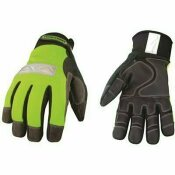 YOUNGSTOWN GLOVE COMPANY X-LARGE SAFETY LIME WATERPROOF WINTER GLOVES - YOUNGSTOWN GLOVE COMPANY PART #: 08-3710-10-XL