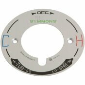 SYMMONS TEMPTROL 4 IN. DIA X 0.1 IN. L ESCUTCHEON DIAL PLATE MODEL A IN CHROME FOR SYMMONS TEMPTROL SHOWER SYSTEMS