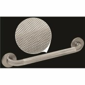 WINGITS PREMIUM SERIES 12 IN. X 1.25 IN. DIAMOND KNURLED GRAB BAR IN SATIN STAINLESS STEEL (15 IN. OVERALL LENGTH)