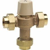 CHICAGO FAUCETS ECAST THERMOSTATIC MIXING VALVE WITH CHECK VALVES AND FILTER SCREENS TO PROTECT AGAINST SCAULDING