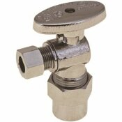 PREMIER 1/4 IN. TURN ANGLE STOP, 1/2 IN. CPVC X 3/8 IN. COMPRESSION, LEAD FREE