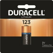 DURACELL COPPERTOP ULTRA PHOTO 123 LITHIUM BATTERY