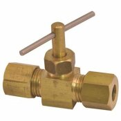 PROPLUS NEEDLE VALVE 1/4 IN. BRASS COMPRESSION LEAD-FREE