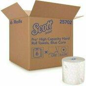 SCOTT HARD ROLL PAPER TOWELS ABSORBENCY POCKETS FOR DISPENSER (1150/ROLL, 6 WHITE ROLLS/CASE, 6,900 FT.)