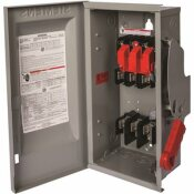 SIEMENS HEAVY DUTY 100 AMP 600-VOLT 3-POLE OUTDOOR FUSIBLE SAFETY SWITCH WITH NEUTRAL