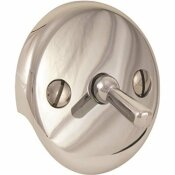 PROPLUS BATH DRAIN WITH TRIP LEVER FACE PLATE IN BRUSHED NICKEL