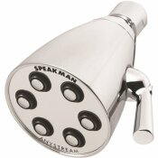 SPEAKMAN 3-SPRAY 2.8 IN. SINGLE WALL MOUNTHIGH PRESSURE FIXED ADJUSTABLE SHOWER HEAD IN POLISHED CHROME
