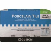 CUSTOM BUILDING PRODUCTS PORCELAIN TILE WHITE 50 LBS. FORTIFIED THINSET MORTAR