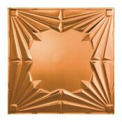 NOT FOR SALE - 202651081 - NOT FOR SALE - 202651081 - FASADE ART DECO 2 FT. X 2 FT. VINYL LAY-IN CEILING TILE IN POLISHED COPPER - ACP PART #: L58-25