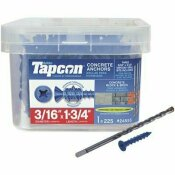 TAPCON 3/16 IN. X 1-3/4 IN. PHILLIPS FLAT-HEAD CONCRETE ANCHORS (225-PACK)