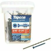 TAPCON 3/16 IN. X 2-1/4 IN. PHILLIPS FLAT-HEAD CONCRETE ANCHORS (225-PACK)