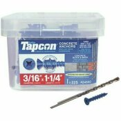 TAPCON 3/16 IN. X 1-1/4 IN. PHILLIPS-FLAT-HEAD CONCRETE ANCHORS (225-PACK)