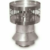 RHEEM 3 IN. X 5 IN. STAINLESS STEEL CONCENTRIC VERTICAL VENT TERMINATION FOR INDOOR TANKLESS GAS WATER HEATERS