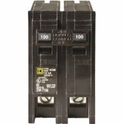 SQUARE D HOMELINE 100 AMP 2-POLE CIRCUIT BREAKER - CLEAR PACKAGING