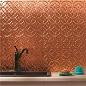 NOT FOR SALE - 202874882 - NOT FOR SALE - 202874882 - FASADE 18.25 IN. X 24.25 IN. POLISHED COPPER RINGS PVC DECORATIVE BACKSPLASH PANEL - ACP PART #: B61-25