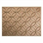 NOT FOR SALE - 202874884 - NOT FOR SALE - 202874884 - FASADE 18.25 IN. X 24.25 IN. ARGENT BRONZE RINGS PVC DECORATIVE BACKSPLASH PANEL - ACP PART #: B61-28