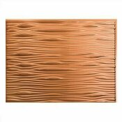 NOT FOR SALE - 202881834 - NOT FOR SALE - 202881834 - FASADE 18.25 IN. X 24.25 IN. POLISHED COPPER WAVES PVC DECORATIVE TILE BACKSPLASH - ACP PART #: B65-25