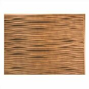NOT FOR SALE - 202881839 - NOT FOR SALE - 202881839 - FASADE 18.25 IN. X 24.25 IN. ANTIQUE BRONZE WAVES PVC DECORATIVE TILE BACKSPLASH - ACP PART #: B65-31