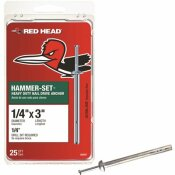 RED HEAD 1/4 IN. X 3 IN. HAMMER-SET NAIL DRIVE CONCRETE ANCHORS (25-PACK)