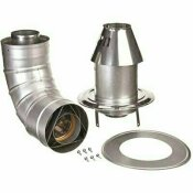 RHEEM 3 IN. X 5 IN. STAINLESS STEEL CONCENTRIC LOW PROFILE TERMINATION VENT FOR TANKLESS WATER HEATERS