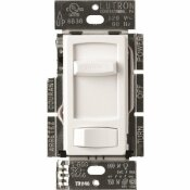 LUTRON SINGLE-POLE OR 3-WAY SKYLARK CONTOUR LED+ DIMMER SWITCH FOR DIMMABLE LED, HALOGEN AND INCANDESCENT BULBS, WHITE