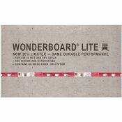 CUSTOM BUILDING PRODUCTS WONDERBOARD LITE 5 FT. X 3 FT. X 7/16 IN. BACKER BOARD