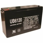 UPG 6-VOLT 12 AH F1 TERMINAL SEALED LEAD ACID (SLA) AGM RECHARGEABLE BATTERY