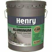 HENRY HENRY 869 RUBBERIZED ALUMINUM REFLECTIVE ROOF COATING  4.75 GALLON