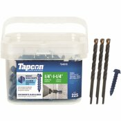 TAPCON 1/4 IN. X 1-1/4 IN. HEX-WASHER-HEAD CONCRETE ANCHORS (225-PACK)