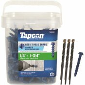 TAPCON 1/4 IN. X 1-3/4 IN. HEX-WASHER-HEAD CONCRETE ANCHORS (225-PACK)
