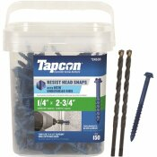 TAPCON 1/4 IN. X 2-3/4 IN. HEX-WASHER-HEAD CONCRETE ANCHORS (150-PACK)