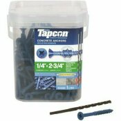 TAPCON 1/4 IN. X 2-3/4 IN. PHILLIPS-FLAT-HEAD CONCRETE ANCHORS (150-PACK)