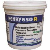 HENRY 650R 1 GAL. RELEASABLE BOND PRESSURE SENSITIVE ADHESIVE